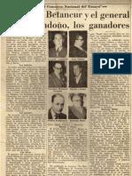 30. Cayetano Betancur y el General Julio Londoño ganaron concurso de ensayo (1955)