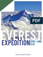 Everest Expedition 2016 - Proposal for Sponsorship - FINAL
