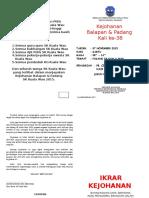 Buku Program Balapan Dan Padang