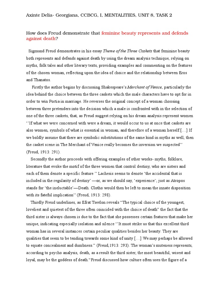 essays on merchant of venice