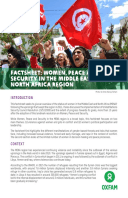 Women, Peace and Security in the Middle East and North Africa Region: Factsheet