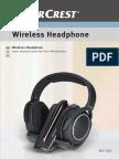 Silvercrest Headphones RFH 1863 Manual En