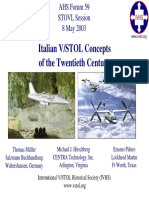 Italian VSTOL Concepts of the Twentieth Century