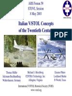 Italian VSTOL Concepts of the Twentieth Century