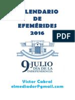 Calendario de efemérides 2016 v2.0