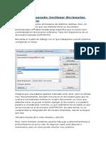 Unidad 5 - Avanzado - Gestionar Diccionarios Personalizados