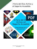 Dossier X Feria Del Ocio Activo y El Deporte Accesible