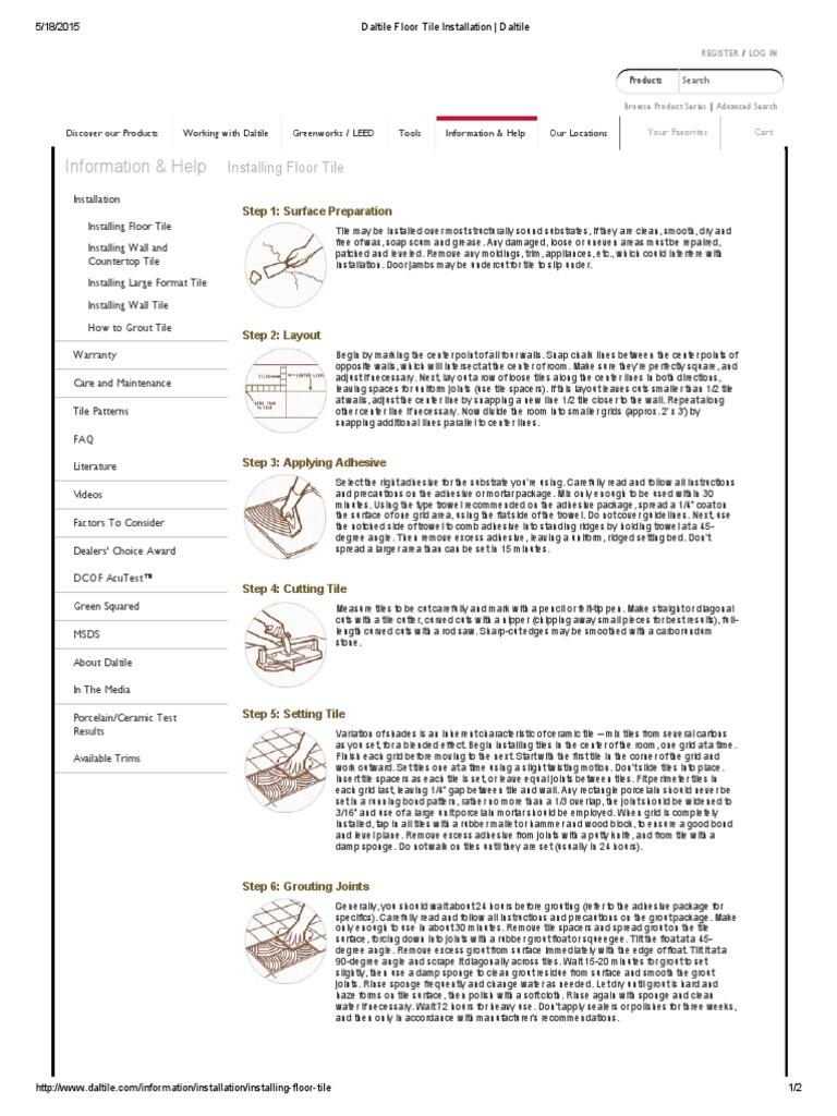 Ct Housekeeping Tile - Dcof rating