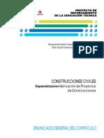 Especializacion Aplicacion de Proyectos de Construcciones