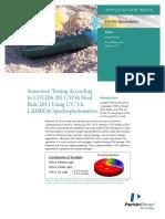 Sunscreen Testing According to COLIPA 2011 FDA Final Rule 2011 Using UV Vis LAMBDA Spectrophotometers