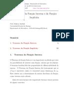 Teorema de função inversa e da função implícita