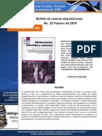 Boletín Nuevas Adquisiciones CD_CISH Febrero 2016