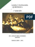 Semiologia y Patologia Quirurgica. Primera Edicion. BREA