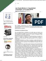Acuarela - Michéa y La 'Imposibilidad Antropológica' de La Utopía Liberal