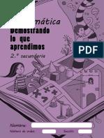 Kit de Evaluacion de Matematica 2do Secundaria