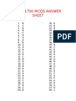 Plab 1700 Mcqs Answer Sheet