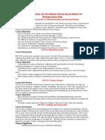 master syllabus for the miami university institute for entrepreneurship