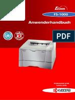 FS 1000 Anwenderhandbuch