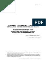 GARCIA LOPEZ Luisa Fernanda - L interet legitime et la notion de reparation des droits fundamentaux (2010)