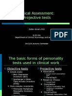 Introduction to Clinical and Counselling Psychology 07 - Clinical Assessment Projective Tests