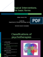 Introduction to Clinical and Counselling Psychology 09 - Interventions - The Basic Forms