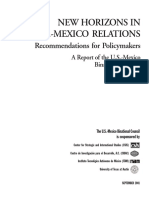 NEW HORIZONS IN U.S.-MEXICO RELATIONS