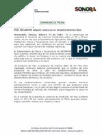 13/02/2016  Pide SAGARHPA adquirir mariscos en establecimientos fijos.-C.021640