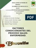Factores Condicionantes Del Proceso Salud- Enfermedad