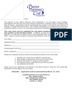 2016 DWC Fine Arts Scholarship Application