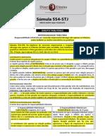 STJ - Súmulas 554 - Dir Tributário - Resp Trib Por Sucessão Empresarial