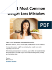 11 Nutrition Mistakes