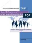 Best HR Practices of International Large Companies