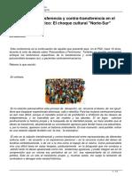 Problemas de Transferencia y Contra Transferencia en El Trabajo Psicoanalitico El Choque Cultural Norte Sur