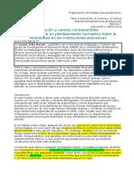 Articulo - Educación y Valores Controvertidos - Jaume Trilla 2014