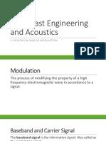 II. Review on Analog Modulation-1