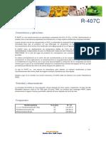 Ficha tecnica r407c
