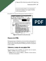"""01) Cabezas Granado, L. M. (2004). """"Repaso de HTML"""" en Manual Imprescindible de PHP5."""