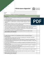 Sc Performance Appraisal