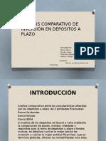 Análisis Comparativo de Inversión en Depósitos a Plazo