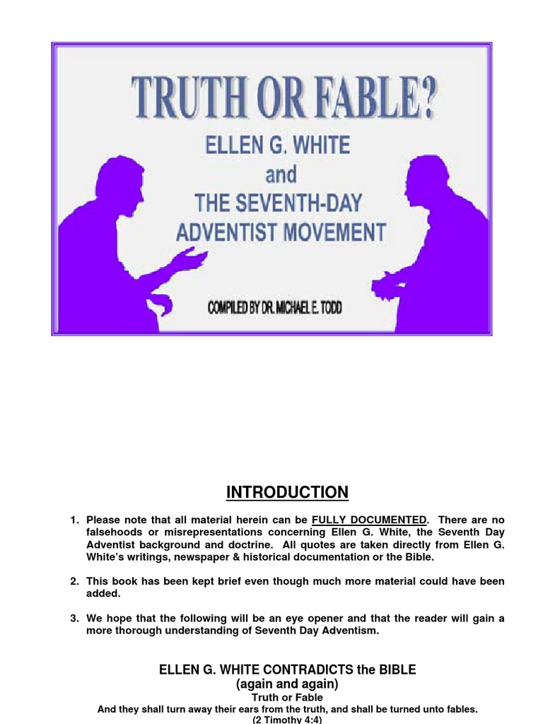 Truth or Fable? Ellen G  White and the Seventh-day Adventist