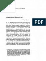 Lectura 3. Qué Es Un Dispositivo (Giorgio Agamben)