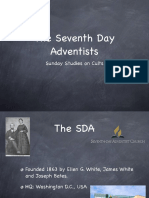 The Seventh Day Adventists - Sunday Study in Cults