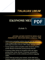 Tinjauan Umum Ekonomi Media