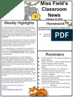 feb 12 jungle newsletter