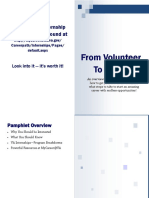 from volunteer to intern program pamphlet
