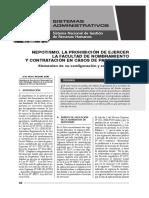 Nepotismo La Prohibición de Ejercer La Facultad de Nombramiento y Contratación en Casos de Parentesco