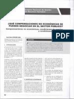 Qué Compensaciones No Económicas Se Pueden Negociar en El Sector Público - José María Pacori Cari
