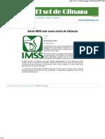 Alerta IMSS Ante Nuevo Brote de Influenza
