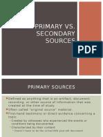 1  primary vs secondary source lesson