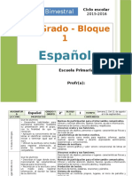 Plan 2do Grado - Bloque 1 Español.doc